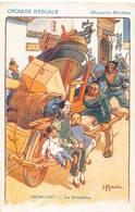 Chine - Shang-Haî - La Brouette - Carte Humoristique - Croquis D'escale 1926 - Chine