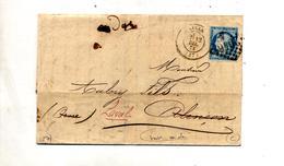 Lettre Cachet Losange Lille Sur Ceres + Lille à Paris Paris à Brest + Etc - 1849-1876: Periodo Classico