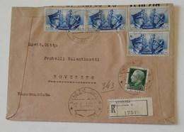 Raccomandata Venezia-Rovereto - 12/04/1941 Ambulante Milano-Bari - Storia Postale