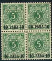 1889, 10 Para Auf 5 Pfg. Opalgrün Postfrisch, Tiefst Geprüft Jäschke-L. BPP - Ufficio: Turchia