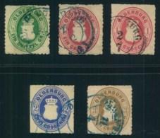 1862 OLDENBURG, 5 Werte Wappen Mit Durchstich 11 3/4 - Oldenburg