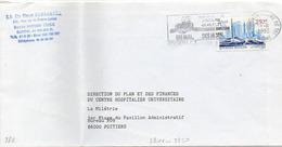 France N° 2811 Y. Et T. Vienne Poitiers Centre De Tri Flamme Illustrée Du 18/06/1993 Sur Lettre - Marcophilie (Lettres)