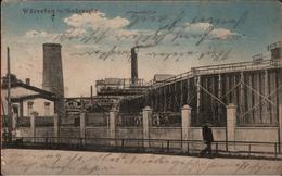 !  Alte Ansichtskarte Würselen , Sodawerke, Industrie, NRW, 1914, Stempel Aachen - Würselen