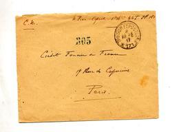 Lettre Franchise   Cachet Tresor Et Postes 171 - Postmark Collection (Covers)