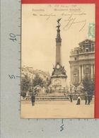 CARTOLINA VG BELGIO - BRUXELLES - Monument Anspach - 9 X 14 - 1911 - Monumenti, Edifici