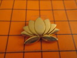 2419 Pin's Pins / Beau Et Rare / THEME : AUTRES / FLEUR DE LOTUS METAL JAUNE Par TOSCA - Pin's