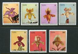Cuba 1972. Tropical Orchids. Complete Set ** (7 Stamps) - Nuevos