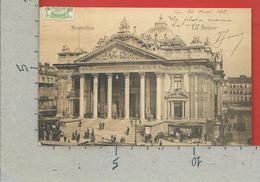 CARTOLINA VG BELGIO - BRUXELLES - La Bourse - 9 X 14 - 1911 - Monumenti, Edifici