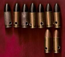Cartouches 9 Mm Allemandes (9) Neutralisées - Equipment