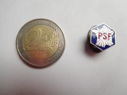 Bel Insigne De Boutonniére ( No Pin's ) , Armée Militaire , PSF , Parti Social Français, François De La Rocque - Organisations