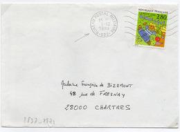 France N° 2837 Y. Et T. Bureau Postal Militaire 522 Flamme Ondulée Du 03/12/1993 Sur Lettre - Marcophilie (Lettres)