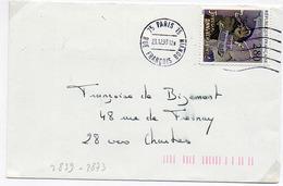 France N° 2839 Y. Et T. Paris 15 Flamme Ondulée Du 23/12/1993 Sur Lettre - 1961-....