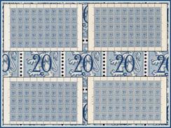 Belgium 0841**  4 Feuilles / Sheet De 50** MNH Planche 1,2,3,4 Départ 1 € ( Action18avril ) - Full Sheets