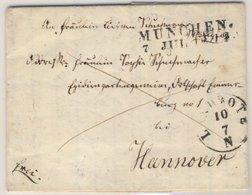 Bayern/Hannover - München 1842, L2 A. Franco-Damenbrief N. Emmerberg B. Hannover - Deutschland
