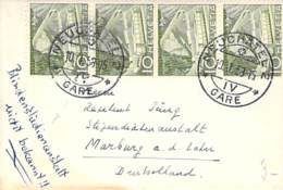 Small Cover 10,5x7 Neuchatel>Marburg 1953 - Suisse