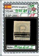 EUROPE:#SPAIN KINGDOM# CLASSIC#MH*1872>(ESP-260C-1) (59) - 1872-73 Reino: Amadeo I