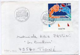 France N° 2880 Y. Et T. Maine Et Loire Cholet Philatélie Cachet Manuel Du 24/11/1994 Sur Lettre - Marcophilie (Lettres)