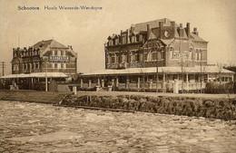 Foto : Schooten Schoten, Westende : Hotels Westende-,Wenduyne,  Foto Van Oude Postkaart, 2 Scans - Guerre, Militaire
