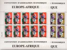 Dahomey - 1967 - N°Yv. 257 à 258 - Europafrique - Feuilles Complètes - Neuf Luxe ** / MNH / Postfrisch - Benin – Dahomey (1960-...)