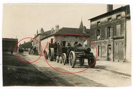 Frankreich ( 55 ?) Traktor Lanz Bulldog ? Geschütz  Artillerie -  Photo Allemande  WWI 1.WK Ca.13,5  X 9 Cm - Guerra 1914-18