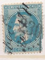 N°299OBLITERATION MANUSCRITE - 1863-1870 Napoléon III. Laure