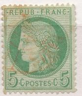 N°53 CACHET ROUGE - 1871-1875 Cérès