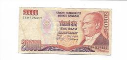 TURQUIE / TURKEY - 1000  LIRASI 1970 - Turquia