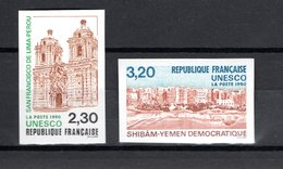 FRANCE  SERVICE   N° 102 + 103   NON DENTELES   NEUFS SANS CHARNIERE  COTE 60.00€   UNESCO  MONUMENT - No Dentado