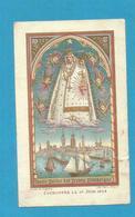 IMAGE PIEUSE HOLY CARD SANTINO IMMAGINETTE SACRE SAINT AUGUSTIN BRUGGES BRUGES NOTRE DAME DES DUNES DUNKERQUE - Images Religieuses