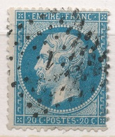 N°22 PETITS CHIFFRES ET VARIETE - 1862 Napoléon III.