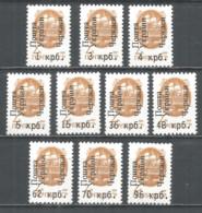 Ukraine Cherkasy Local Overprint 1994 Mint Stamps MNH(**) - Oekraïne
