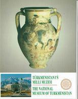 ASIE - TURKMENISTAN - Carte Du Muséum National - Magnifique Vase Avec Fresques - Turkménistan