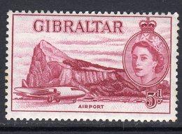 Gibraltar 1953-9 5d Maroon Definitive, MNH, SG 152 (B) - Gibilterra