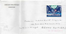 France N° 2881 Y. Et T. Vienne Poitiers Centre De Tri Flamme Illustrée Du 01/07/1994 Sur Lettre - Marcophilie (Lettres)