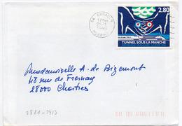 France N° 2881 Y. Et T. Morbihan Arradon Flamme Ondulée Du 25/01/1995 Sur Lettre - Marcophilie (Lettres)