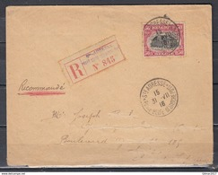 Recommandée Brief Van Ste Adresse Poste Belge - 1915-1920 Albert I