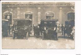 CARTE PHOTO De MOULINS  Ancienne Voiture Présidentielle Devant La Gare ( Militaire ) MAUVAIS ETAT - Moulins