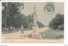 Carte De  La Croix Saint Simon  Forêt De Saint Germain En Laye ( Colorisée ) - St. Germain En Laye