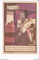 Carte  Publicitaire Alcool De Menthe De Ricqlès ( Illustration Le Laboureur Et Ses Enfants  ) - Publicité