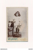 CDV  Photo D' Enfant Fille Avec Poupée Avec Très Belle Poupée ( Jouet ) Phoyographe Abel & Patureau à BOURGES 18 - Photos