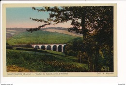 Carte De MONTCHANIN Viaduc De Saint Laurent D' Andenay   ( Recto Verso ) - France