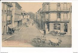 Carte De SAINT GIRONS  La Rue De Villefranche ( Attelage De Boeufs ) - Saint Girons