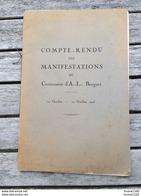 Fascicule Du Compte Rendu Des Manifestations Du Centenaire Abraham Louis BREGUET  ( Horloger ) 27 Octobre 1923 - Libros, Revistas, Cómics