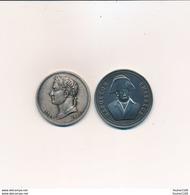Lot De 2 Médailles De Napoléon ( Recto Verso ) - France
