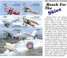 République Centrafricaine Central Africa 2003 Histoire De L'Aviation History Of Aviation Sheet  8 Stamps - Aerei