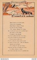 Grande Carte Illustrée LES FABLES DE NESTLE Le Renard Et Le Corbeau  ( Fable / Chocolat Nestlé ) - Nestlé