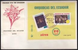 Ecuador 1980 / Flowers, Orchids / FDC - Orquideas