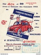 Petit BUVARD Cahier De Vacances Magnard  Voiture 4 Cv ( Papeterie Estour Valence ) - Otros