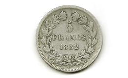 5fr Argent  Louis Philippe 1832 D Lyon  Tranche Relief Voir Photo   G678 - France
