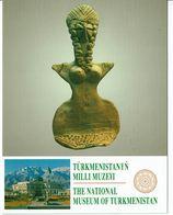 ASIE  - TURKMENISTAN - Carte Du Muséum National - Statue De Déesse Trouvée à Cheval - Turkménistan